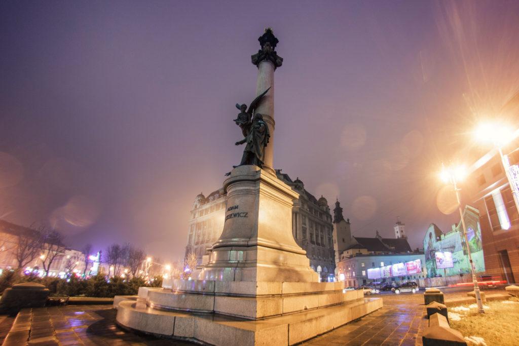 Weekend we Lwowie pomnik Adama Mickiewicz Lwów