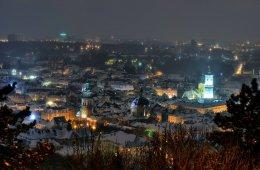 Nocne zdjęcia Lwowa