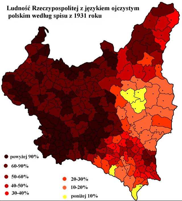 Język polski w II RP spis 1931