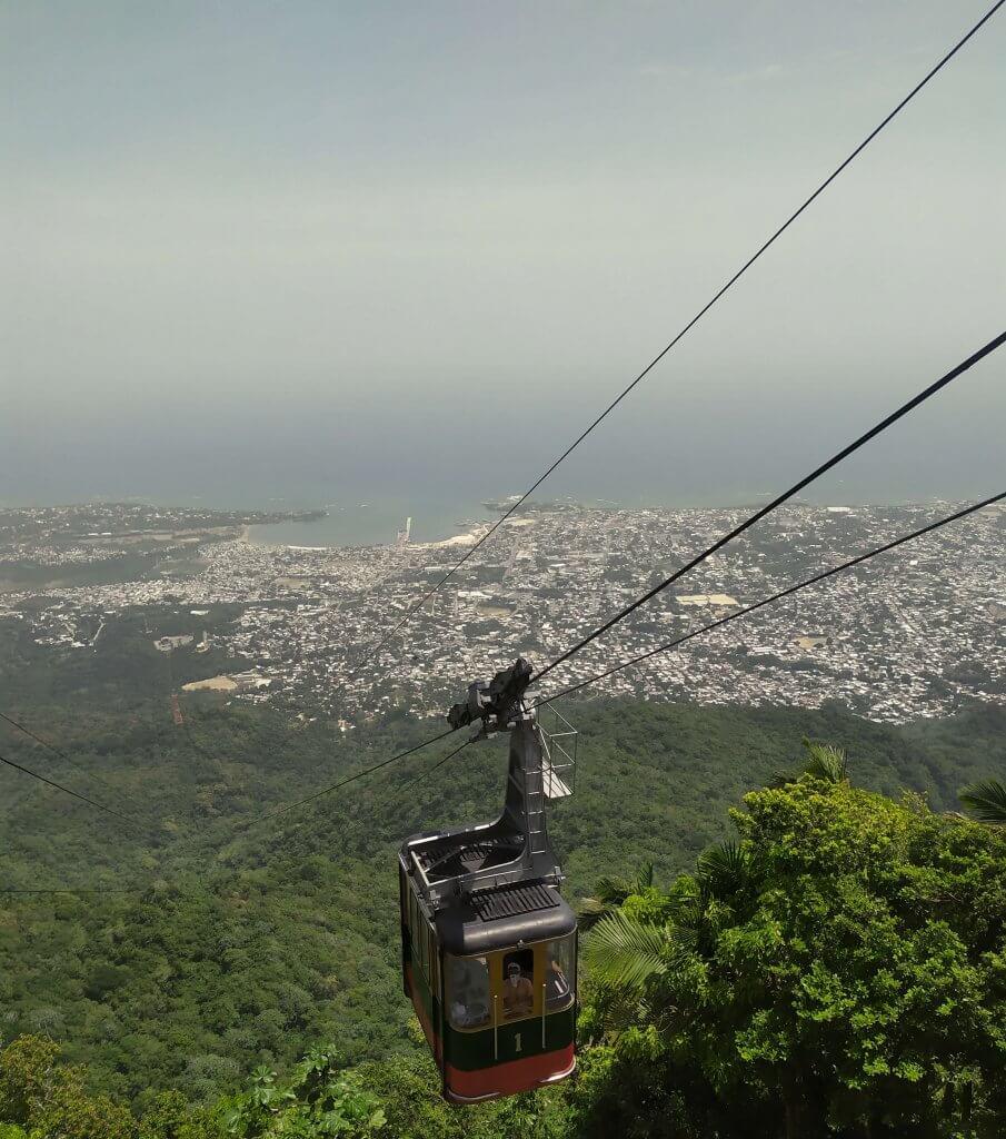 Kolejka linowa na Dominikanie