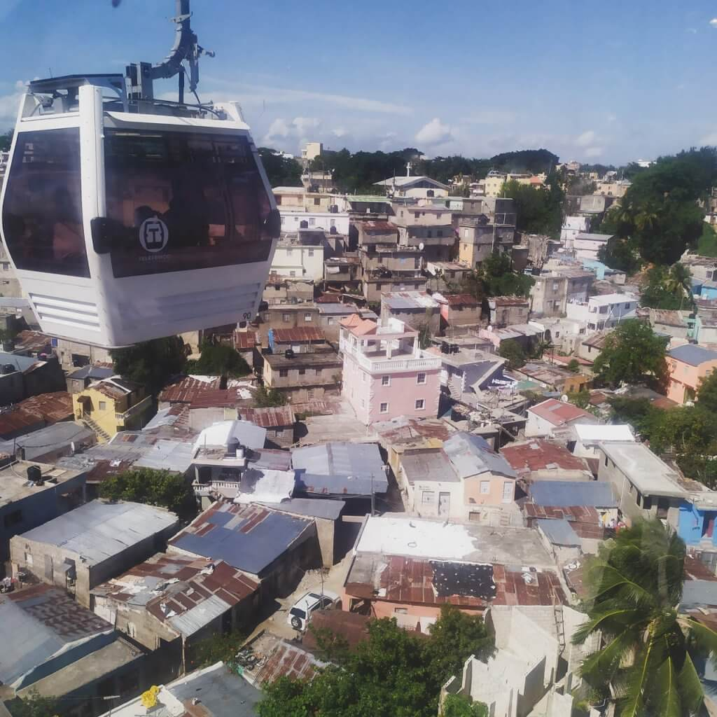 Santo Domingo atrakcje - kolejka linowa