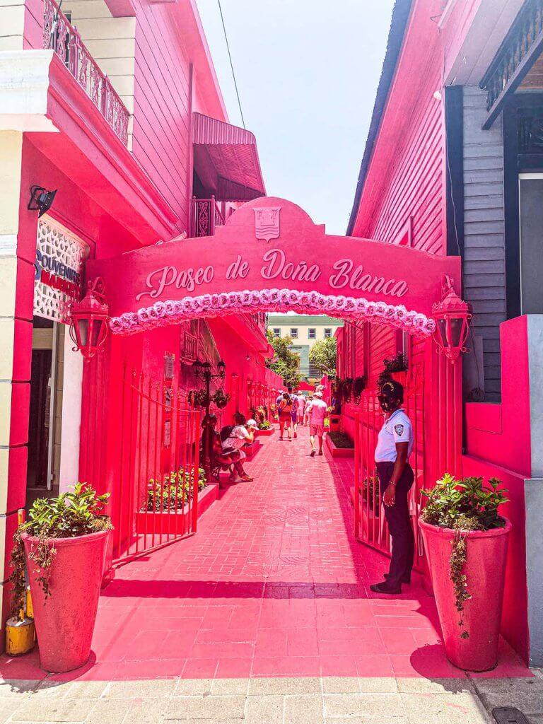 Różowa ulica Puerto Plata atrakcje